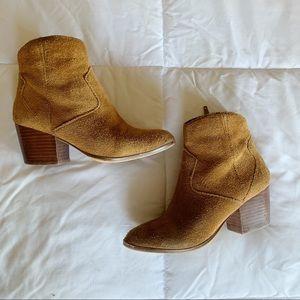 ALDO Mustard brown booties